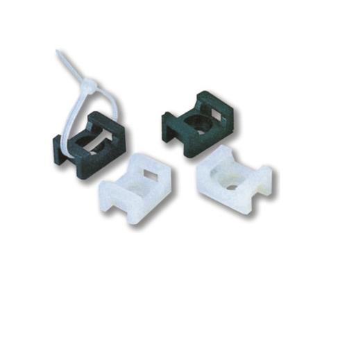 Saddle type Tie Mount White - Cable management (100 pcs/bag) [02 ...
