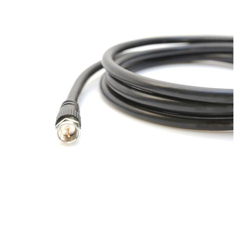 15 ft RG6 Satellite TV Cable with Weather Proof F-Type Connector [04 ...