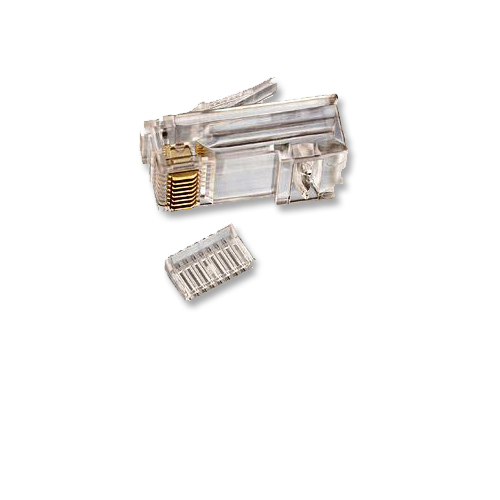 Rj45 Cat6 Modular Jack For Round Solid Cable With Insert