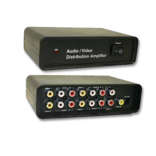 4 way audio video splitter distribution amplifier